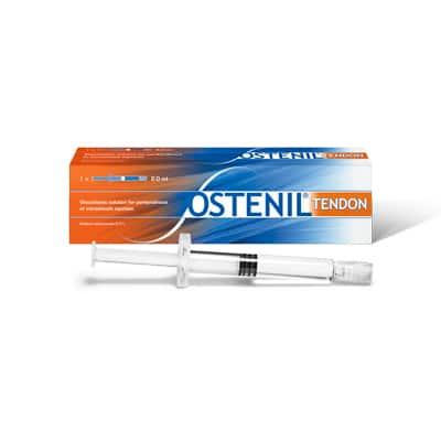 OSTENIL® TENDON Fertigspritze zur Behandlung von Schmerzen und eingeschränkter Bewegungsfähigkeit bei Sehnenbeschwerden. Wirksam, sicher und verträglich! Ostenil-Tendon zur Tendinitis Injektion. Hyaluronsäure. TRB-Chemedica