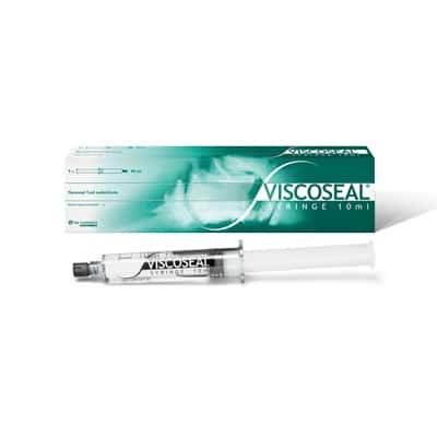 VISCOSEAL® SYRINGE est injecté immédiatement après arthroscopie, produit à base d'acide hyaluronique