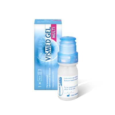 VISMED GEL MULTI Augentropfen für trockenes Auge mit Hyaluronsäure von TRB Chemedica Packshot